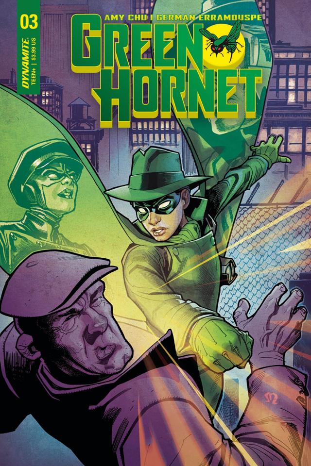 Green Hornet #3 (Roux Cover)