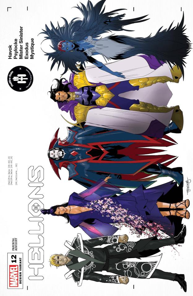 Hellions #12 (Segovia Character Design Cover)