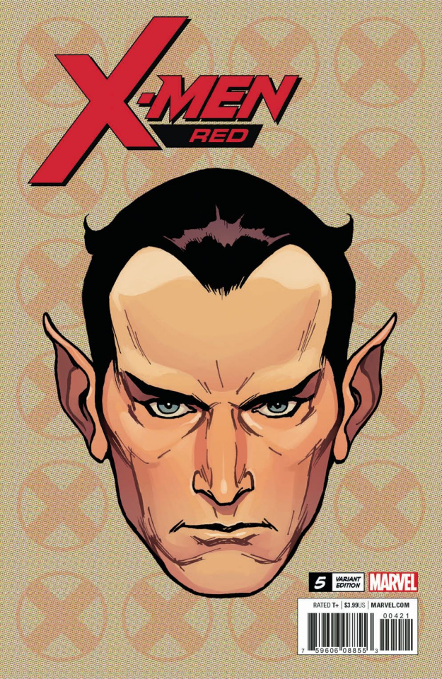 X-Men: Red #5 (Charest Headshot Cover)