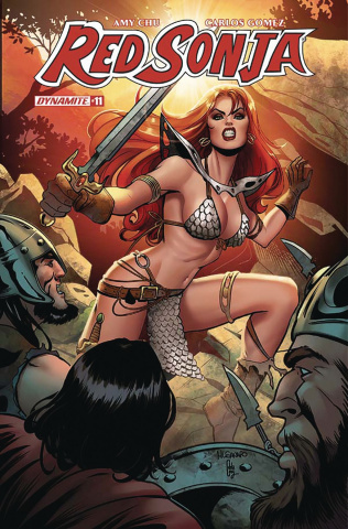 Red Sonja #11 (Sanapo Subscription Cover)