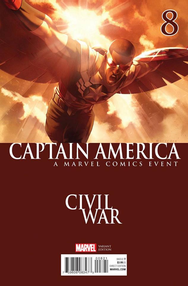 Captain America: Sam Wilson #8 (Civil War Cover)