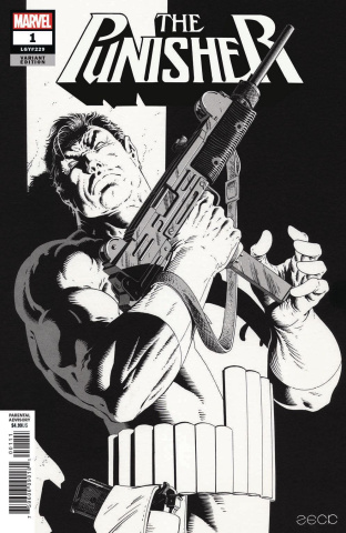 The Punisher #1 (Zeck Hidden Gem B&W Cover)