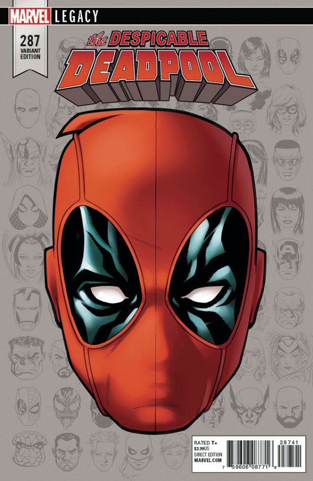 The Despicable Deadpool #287 (McKone Legacy Headshot Cover)