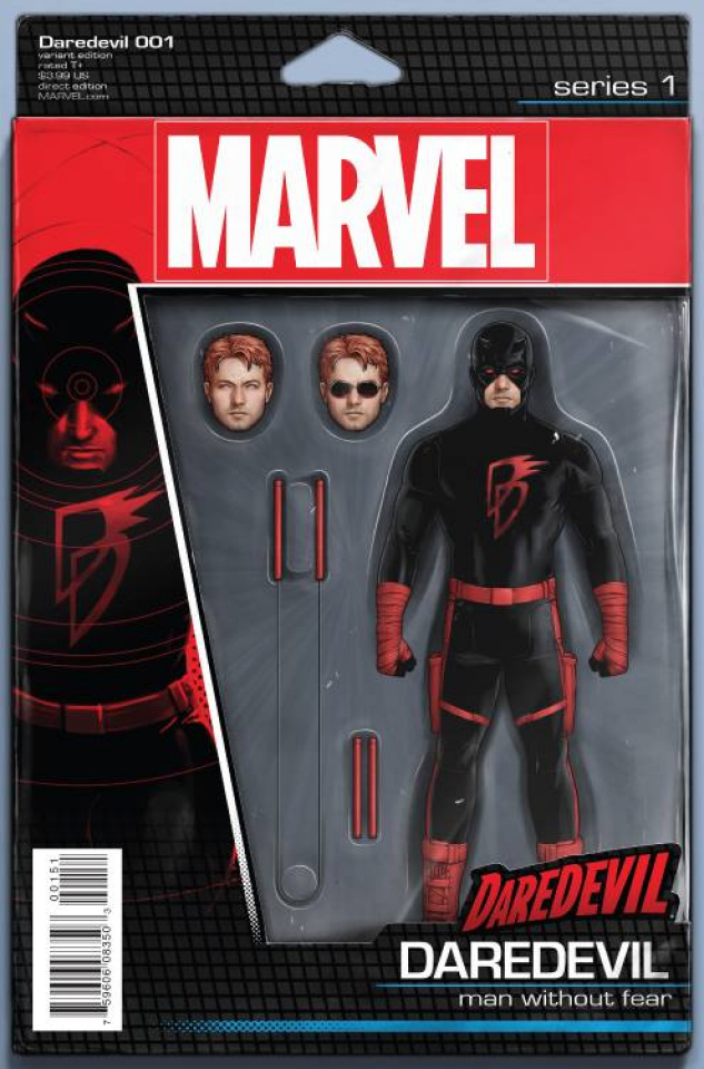 Daredevil #1 (Christopher Action Figure Cover)