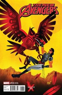 New Avengers #13 (Veregge Death of X Cover)
