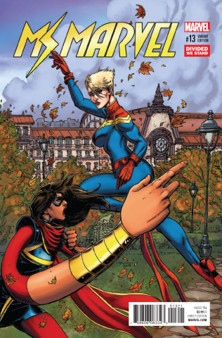 Ms. Marvel #13 (Divided We Stand Cover)