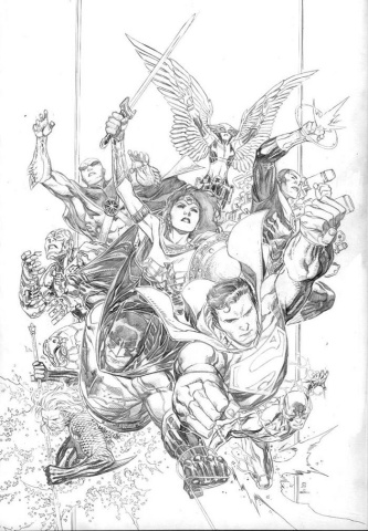 Justice League #1 (Jim Chueng Pencils Only Cover)
