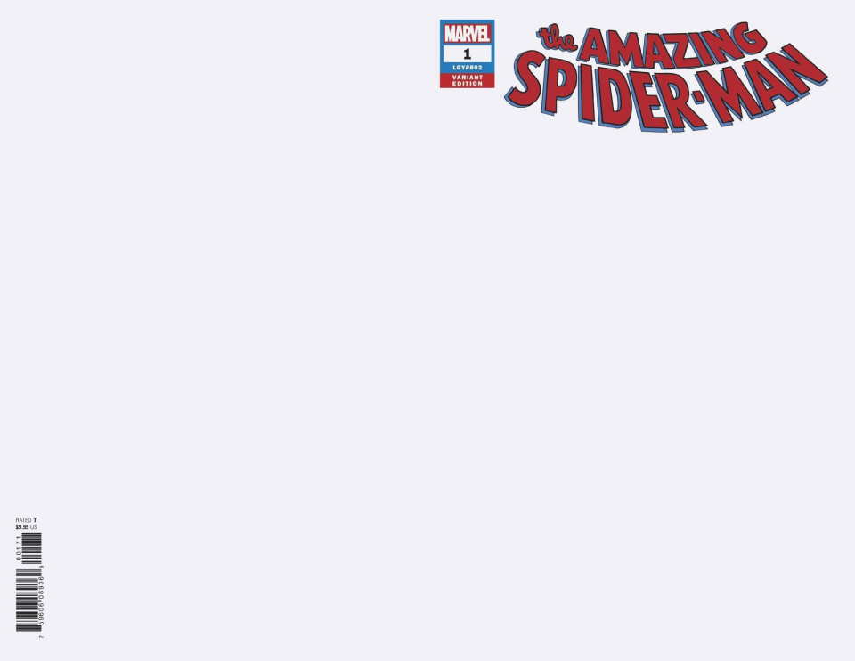 The Amazing Spider-Man #1 (Blank Cover)