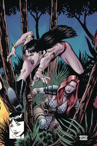 Vampirella / Red Sonja #8 (Gorham Virgin Homage Cover)