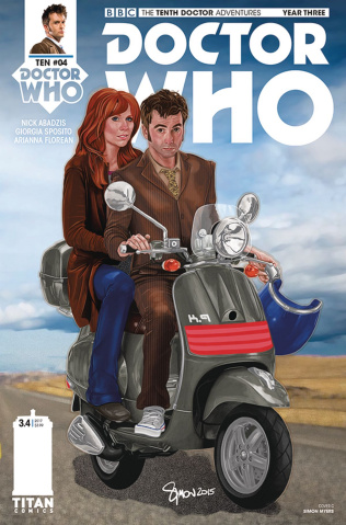 Doctor Who: New Adventures with the Tenth Doctor, Year Three #4 (Myers Cover)