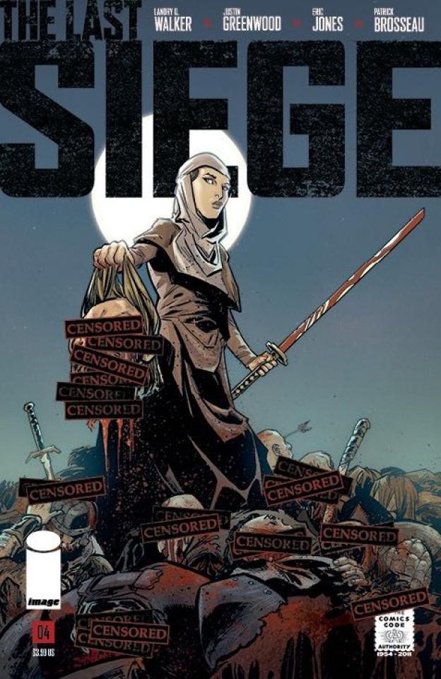 The Last Siege #4 (CBLDF Charity Censored Cover)