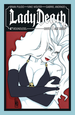 Lady Death #8 (Art Deco Variant Cover)