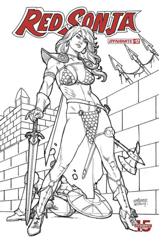 Red Sonja #12 (30 Copy Linsner B&W Cover)
