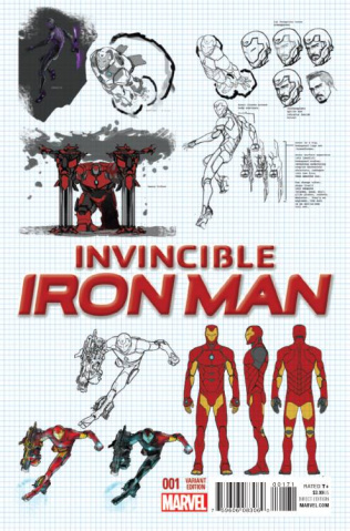 Invincible Iron Man #1 (Marquez Design Cover)