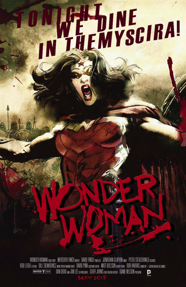 Wonder Woman #40 (Movie Poster Cover)