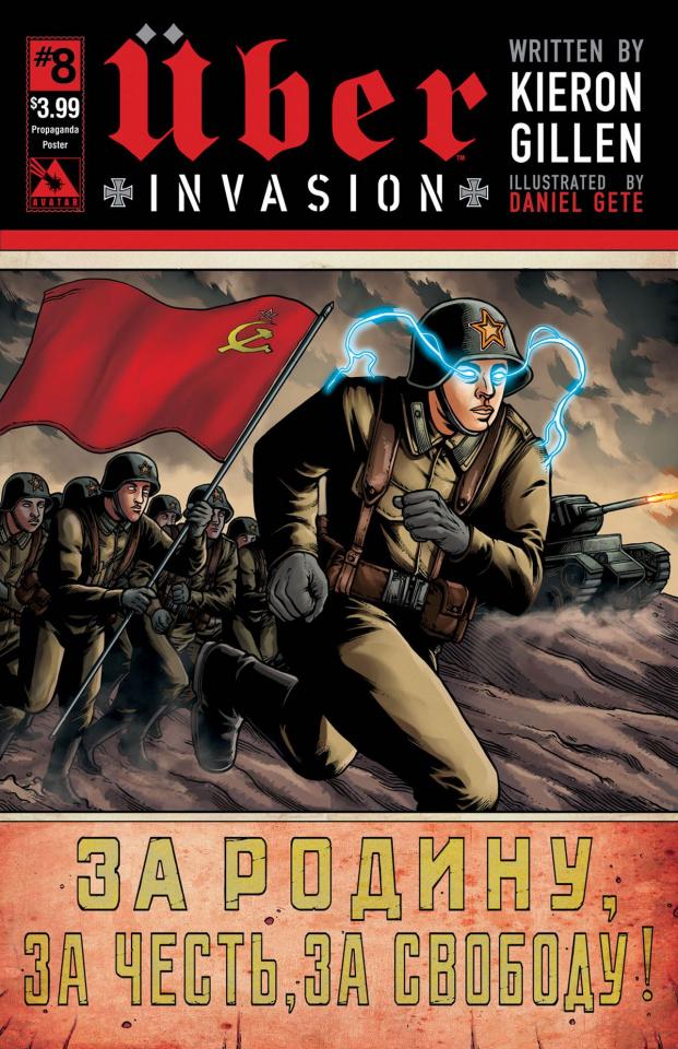 Über: Invasion #8 (Propaganda Poster Cover)