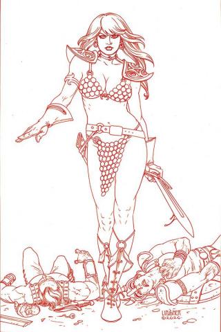 Red Sonja #20 (30 Copy Linsner Tint Virgin Cover)
