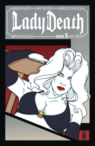 Lady Death #5 (Art Deco Variant Cover)