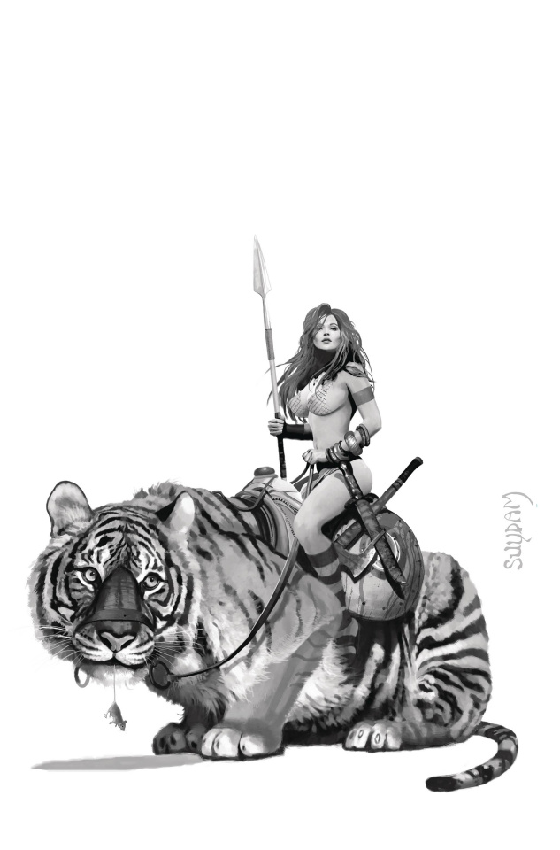 Red Sonja: The Price of Blood #3 (35 Copy Suydam B&W Virgin Cover)