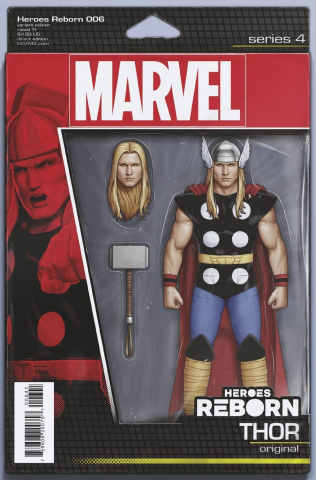 Heroes Reborn #6 (Christopher Action Figure Cover)