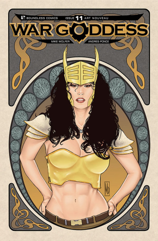 War Goddess #11 (Art Nouveau Cover)