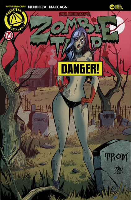 Zombie Tramp #34 (Trom Risque Cover)
