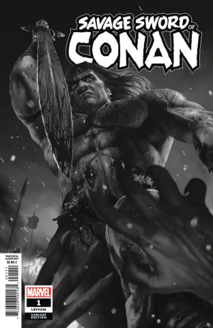 The Savage Sword of Conan #1 (Rahzzah B&W Cover)
