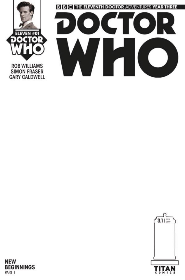 Doctor Who: New Adventures with the Eleventh Doctor, Year Three #1 (Blank Sketch Cover)
