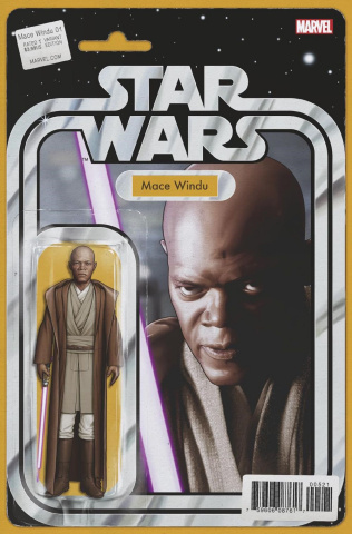 Star Wars: Mace Windu, Jedi of the Republic #5 (Christopher Action Figure Cover)