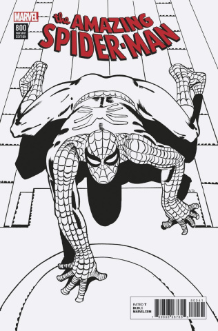 The Amazing Spider-Man #800 (Ditko Remastered B&W Cover)