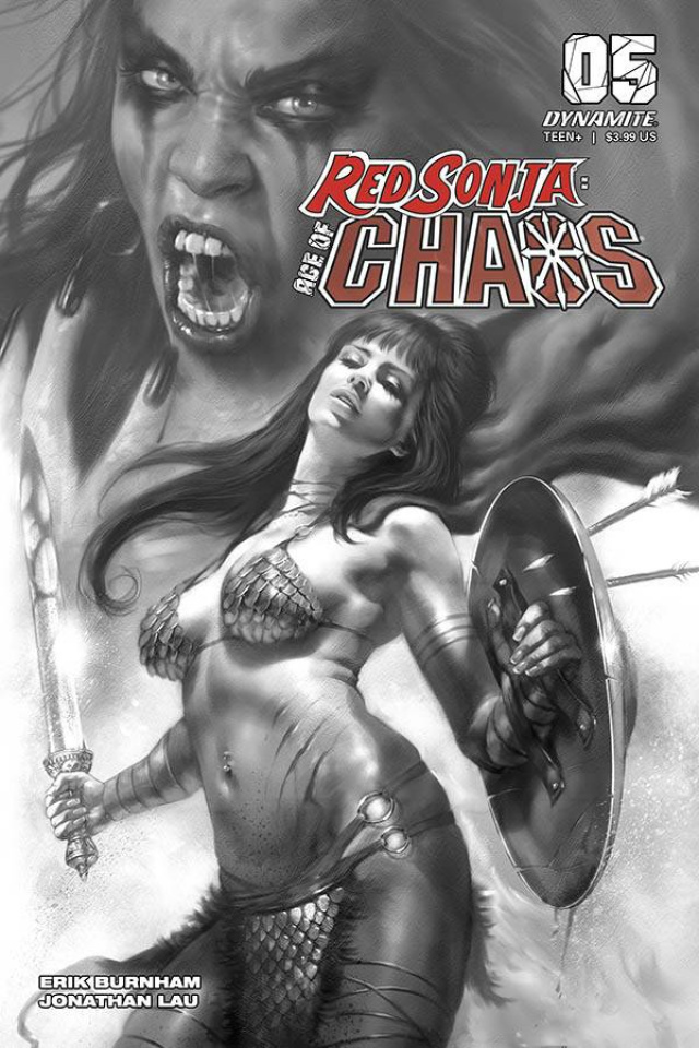 Red Sonja: Age of Chaos #5 (40 Copy Parrillo B&W Cover)