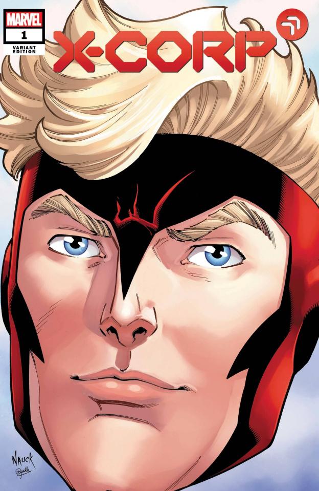 X-Corp #1 (Nauck Headshot Cover)