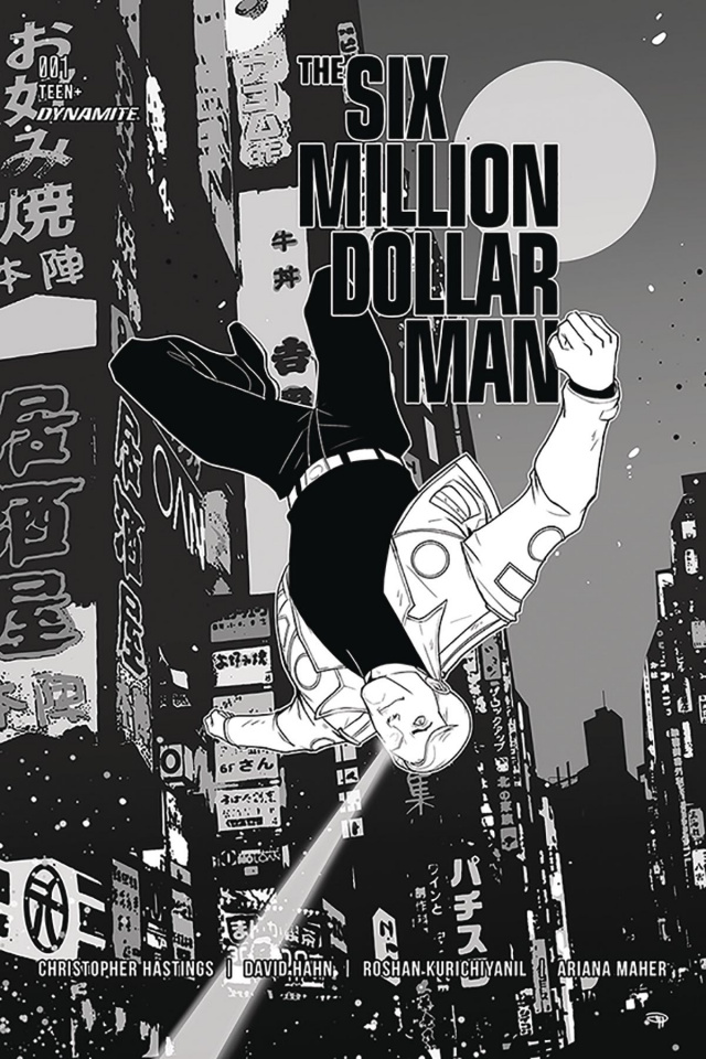 The Six Million Dollar Man #1 (50 Copy Medri B&W Cover)