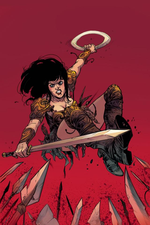 Xena #4 (10 Copy Guara Virgin Cover)