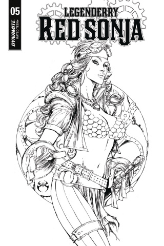 Legenderry: Red Sonja #5 (10 Copy Benitez B&W Cover)