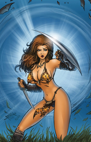 Cavewoman: Razor's Run #1 (Magnum Cover)