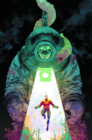 Aquaman #44 (Green Lantern 75th Anniversary Cover)