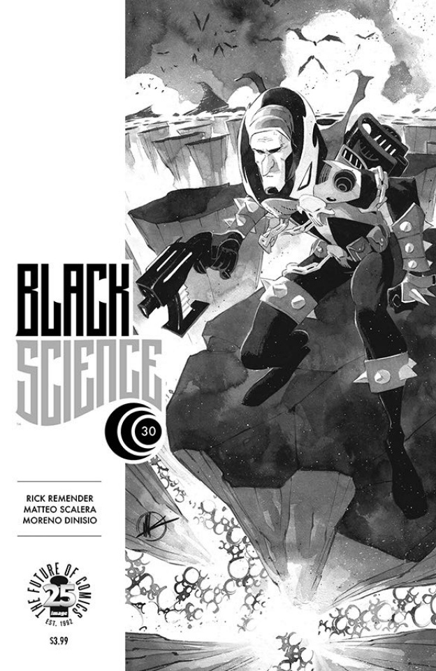 Black Science #30 (Spawn Month B&W Cover)