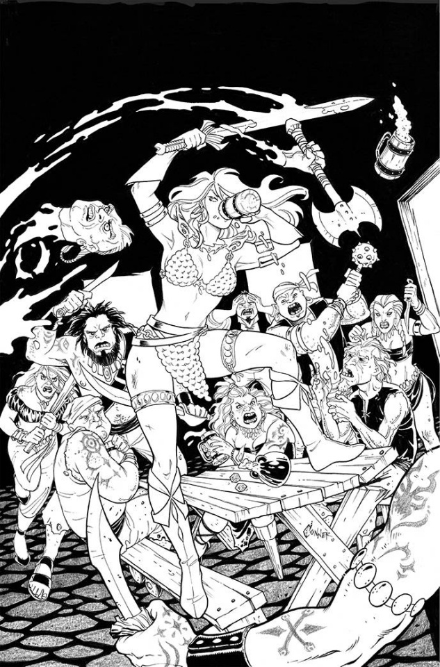 The Invincible Red Sonja #3 (40 Copy Conner Line Art Cover)