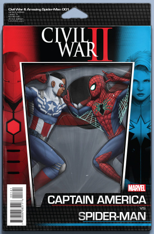 Civil War II: Amazing Spider-Man #1 (Action Figure Cover)