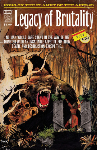 Kong on The Planet of the Apes #5 (Pulp Hack Cover)