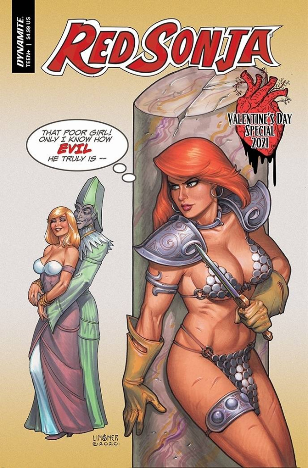 Red Sonja Valentines Special (Linsner Cover)