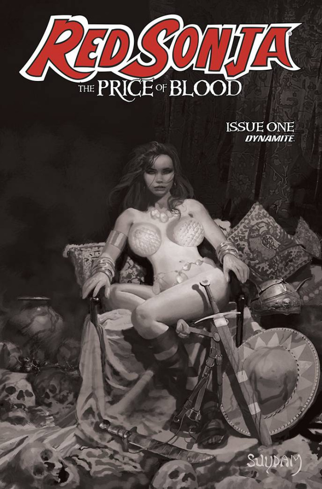 Red Sonja: The Price of Blood #1 (11 Copy Suydam B&W Cover)