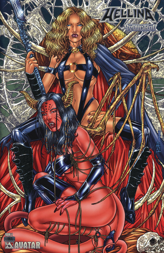 Hellina: Seduction #1 (Platinum Foil Cover)