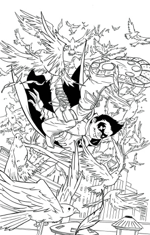 Robin: Son of Batman #8 (Adult Coloring Book Cover)
