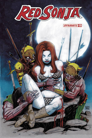 Red Sonja #23 (7 Copy Moss Zombie Cover)