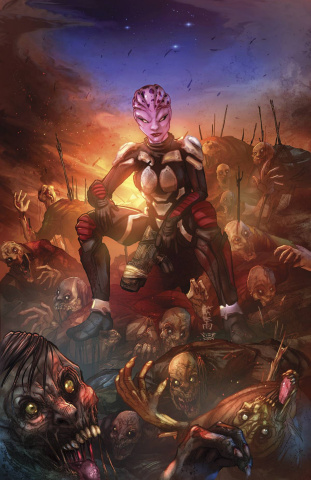 Aliens vs. Zombies #2 (Cafaro Cover)
