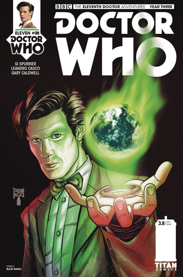 Doctor Who: New Adventures with the Eleventh Doctor, Year Three #8 (Shedd Cover)