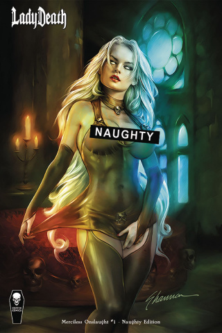 Lady Death: Merciless Onslaught #1 (Naughty Cover)