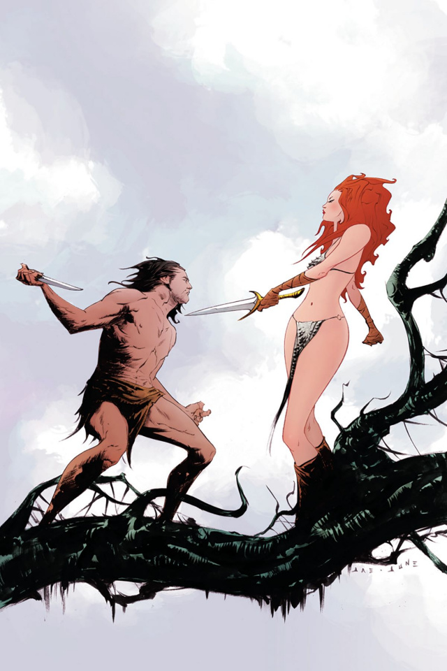 Red Sonja / Tarzan #1 (10 Copy Lee Virgin Cover)